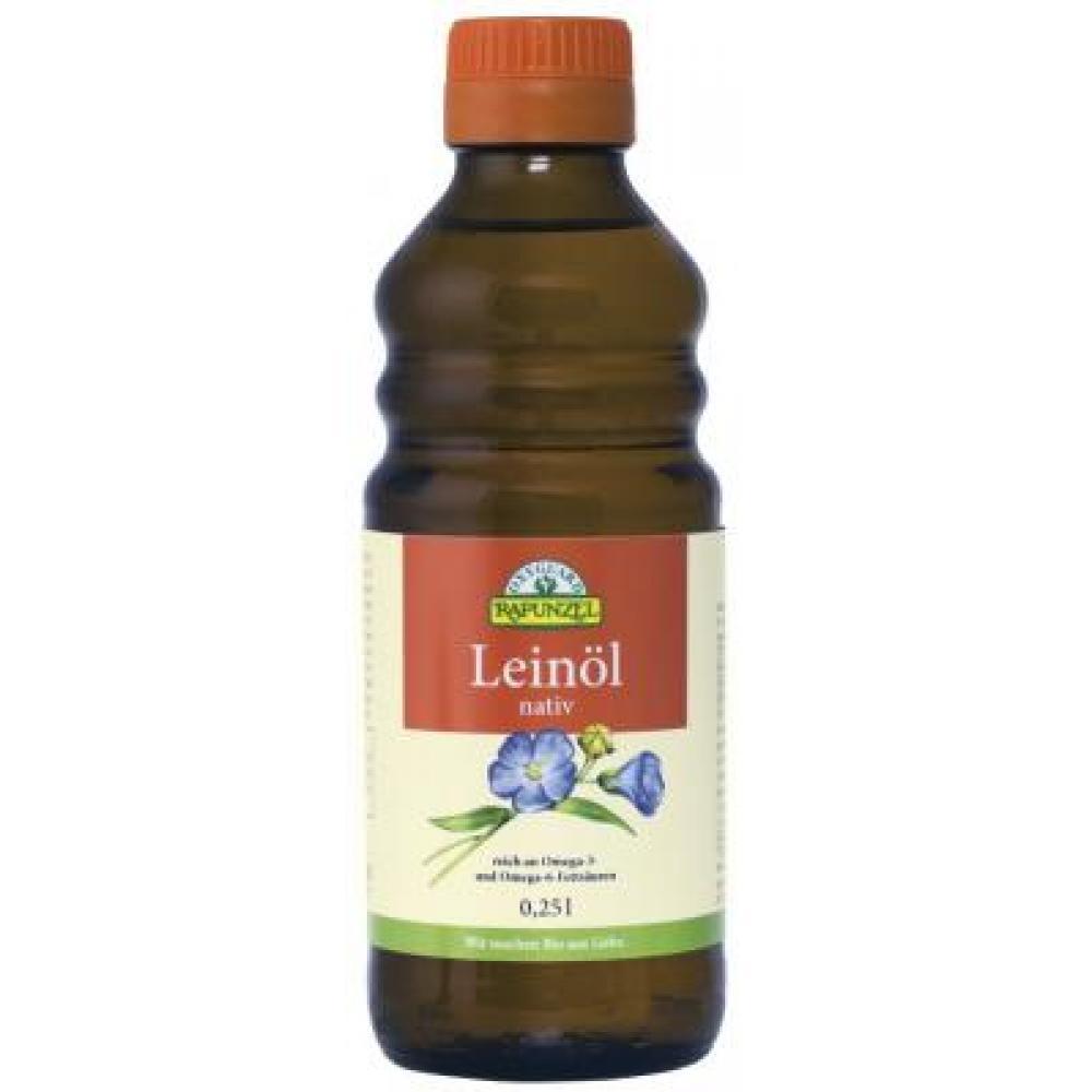 Lněný olej lisovaný za studena RAPUNZEL 250ml-BIO