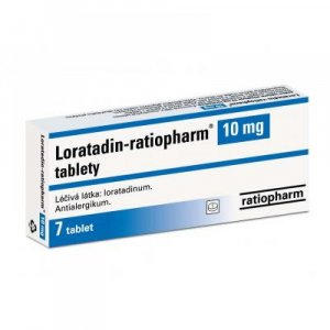 LORATADIN-RATIOPHARM 10 MG  7X10MG Tablety