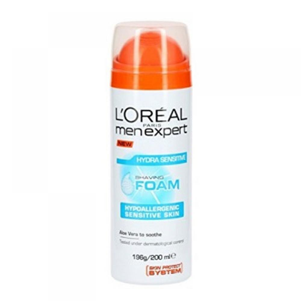 L'ORÉAL Men Expert pěna na holení Hydra Sensitive 200 ml