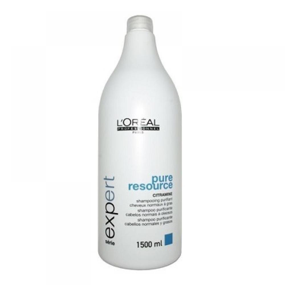 L´Oreal Paris Expert Pure Resource Shampoo 1500ml Šampon pro mastící se pokožku