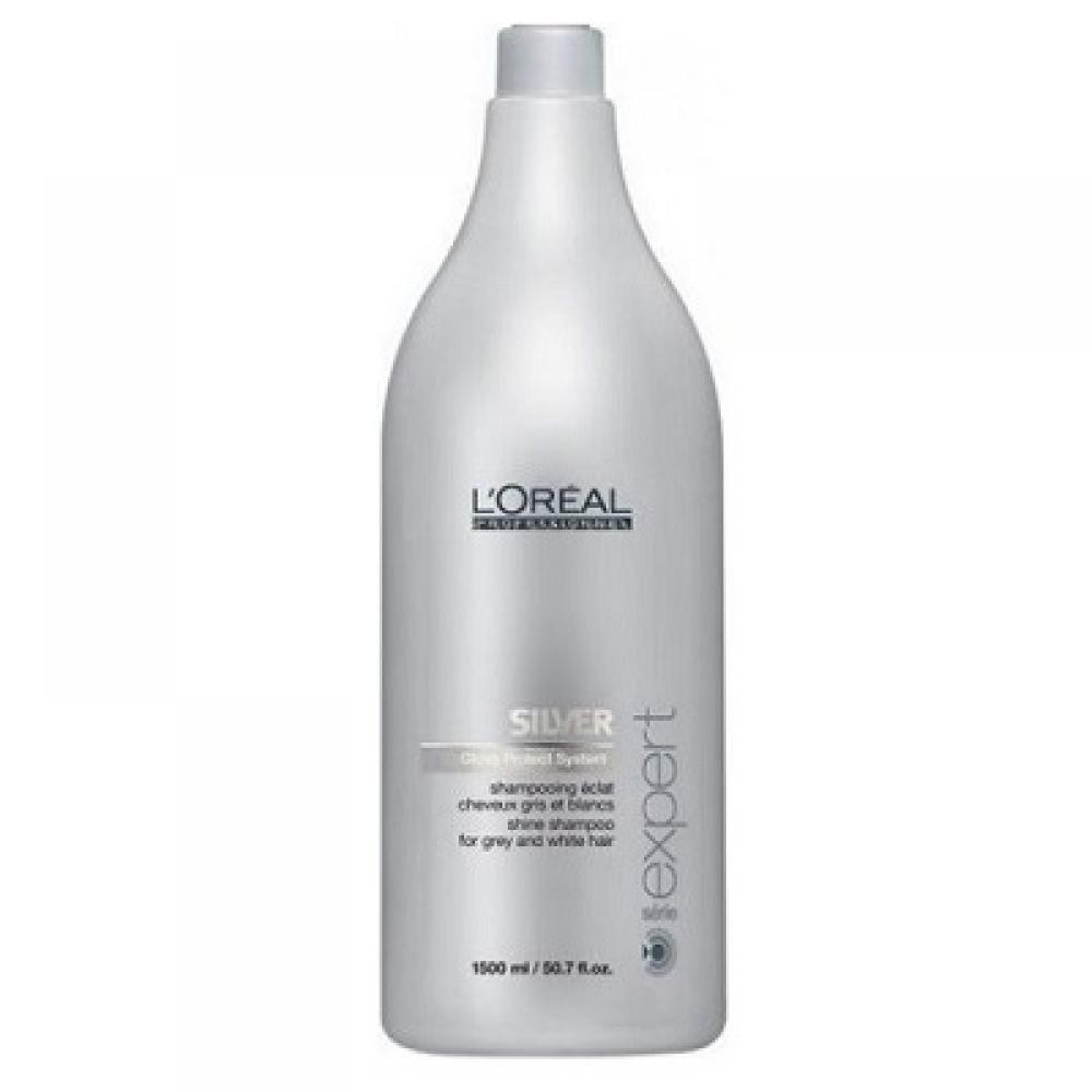L'ORÉAL Expert Silver šampon pro oživení bílých a šedivých vlasů 1500 ml