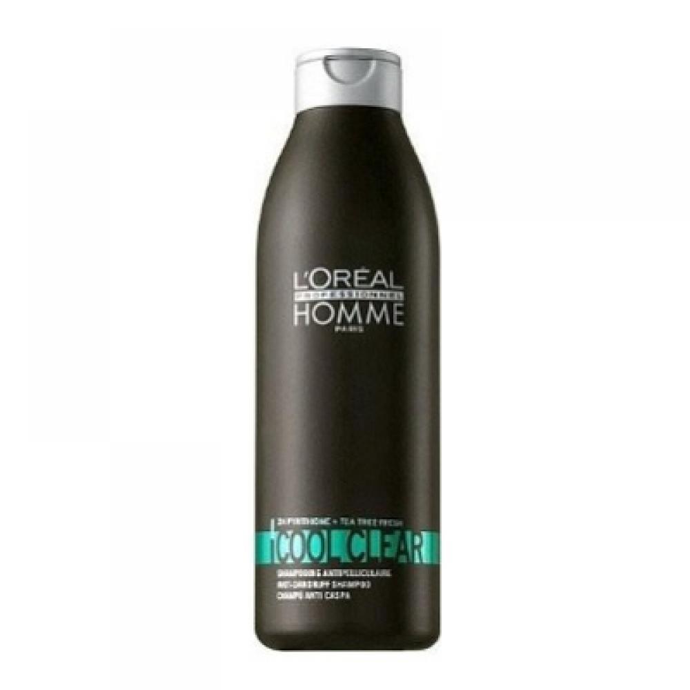 L'ORÉAL Homme Cool Clear pánský šampon proti lupům 250 ml