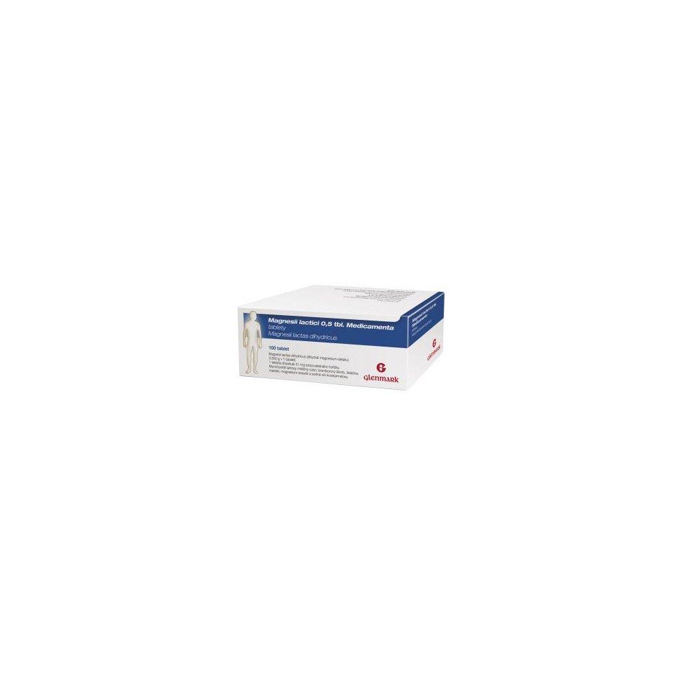 MAGNESII lactici Medicamenta 0,5 g x 100 tablet