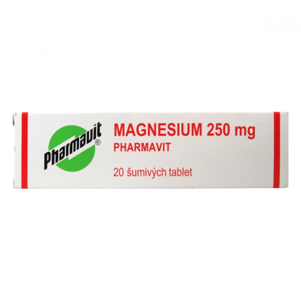 MAGNESIUM 250 MG PHARMAVIT 20 Šumivé tablety