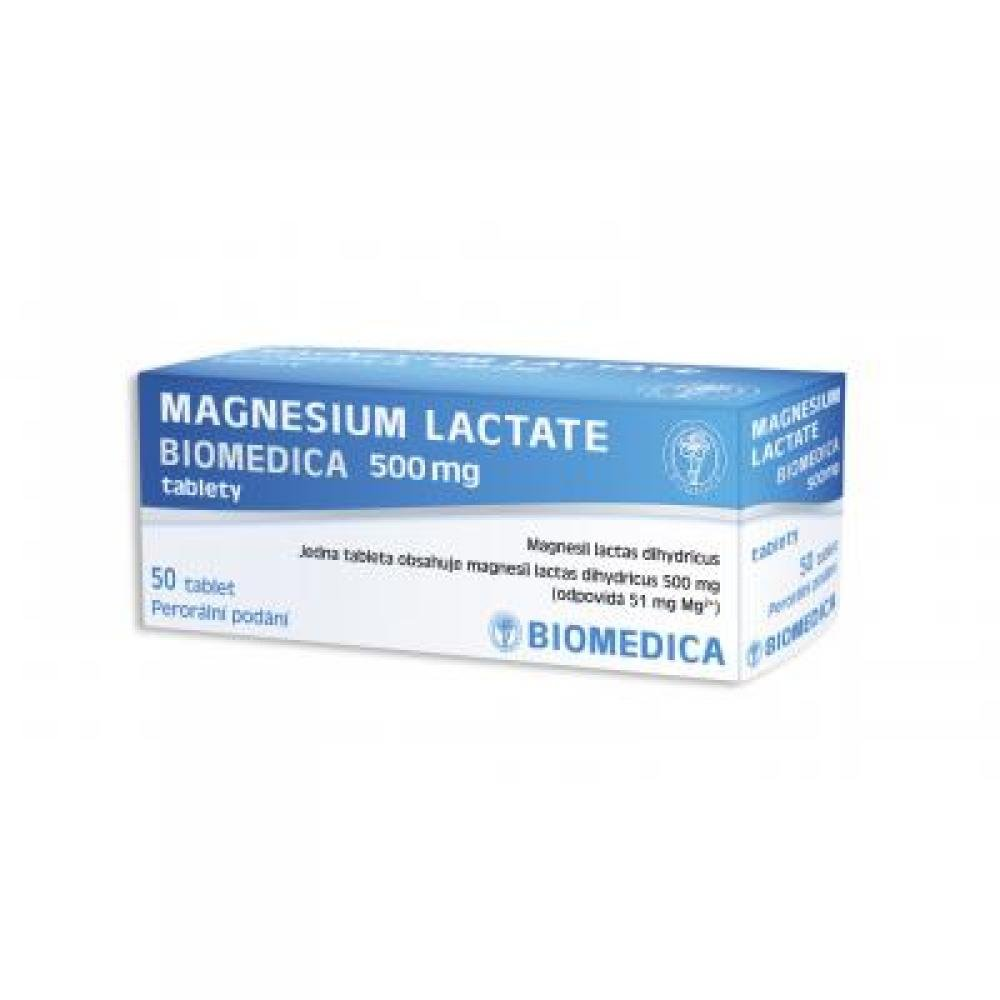 Magnesium Lactate Biomedica 500 mg tablety