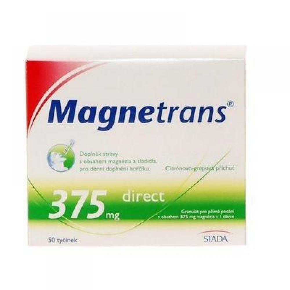 Magnestrans 375 mg 50 tyčinek granulátu