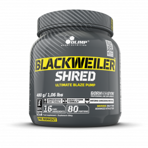 OLIMP Blackweiler Shred Předtréninková směs Exotic Orange 480 g