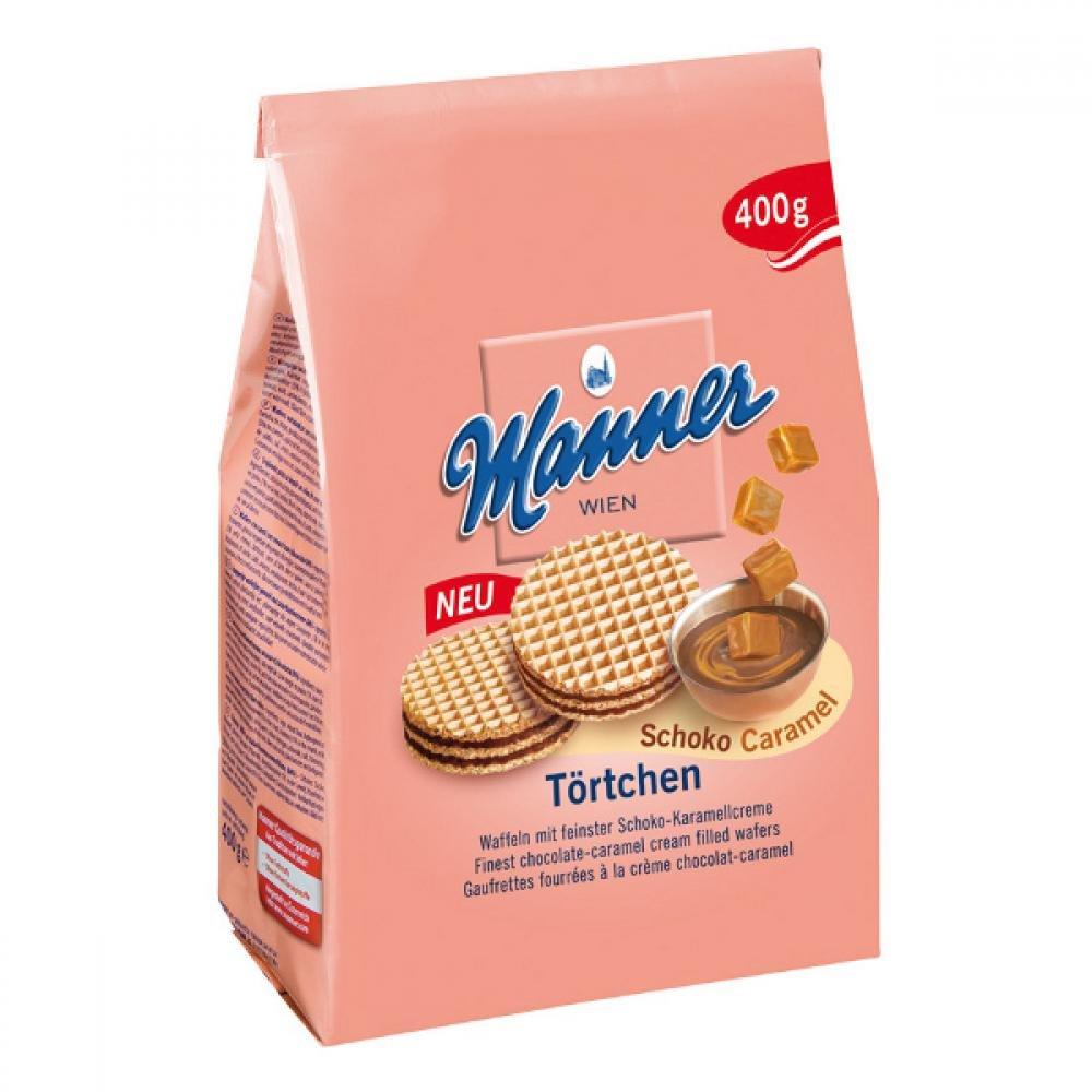 Manner Törtchen Schoko-Caramel 400g Čoko-karamelová náplň
