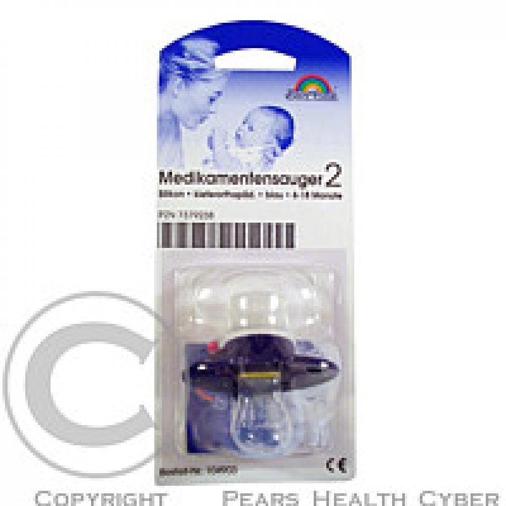 Medicínské šidítko NUMI MED, tmavě modrá, silikon, ortodontická (od 6. měsíce)