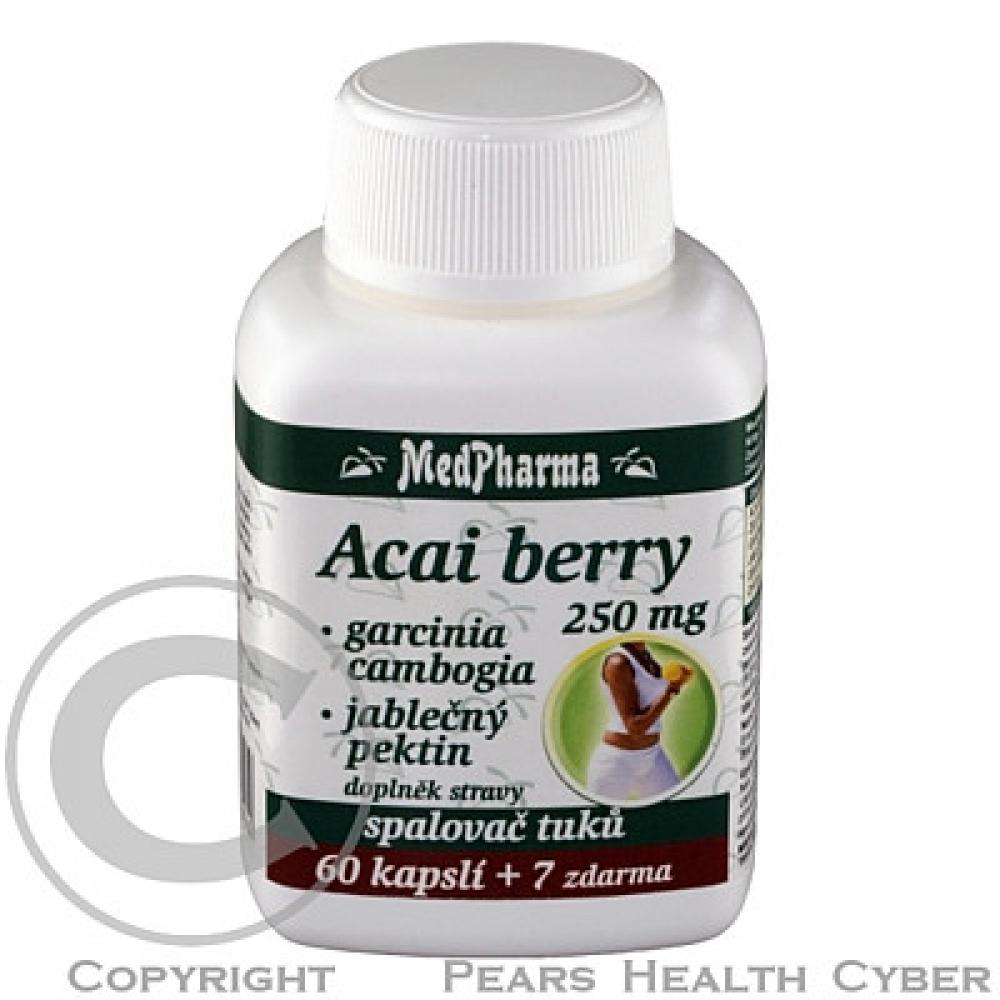 MedPharma Acai berry+garcinia spalovač tuků 37 kapslí