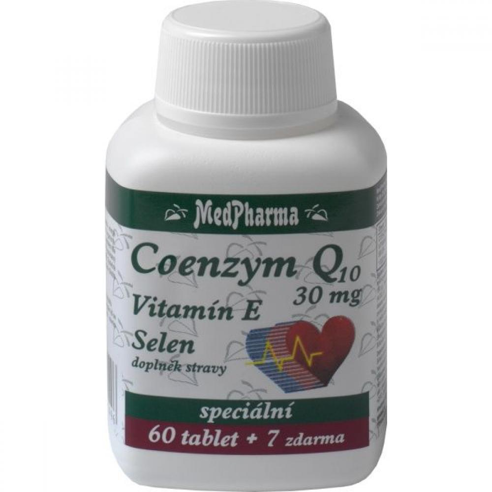 MedPharma Coenzym Q10 30mg + vitamín E + selen tbl.67