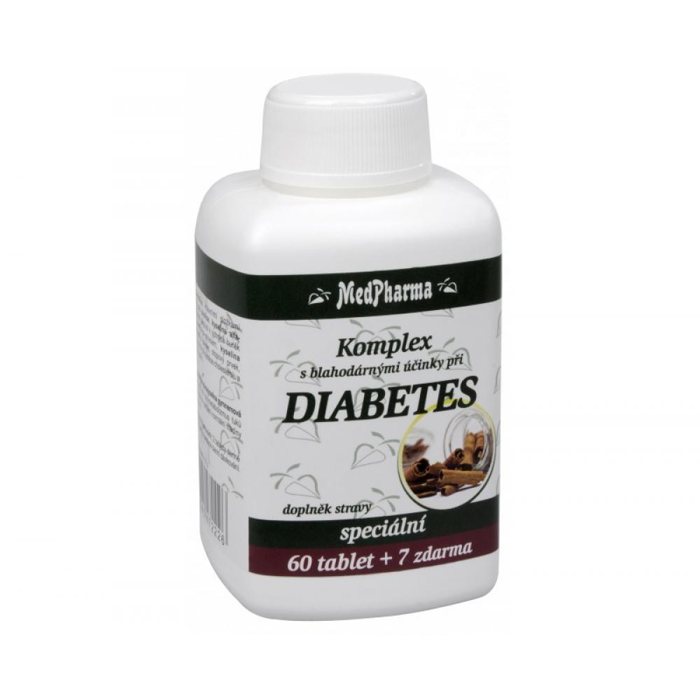 MedPharma Diabetes skořice kyselina alfa - lipový chrom tbl.67