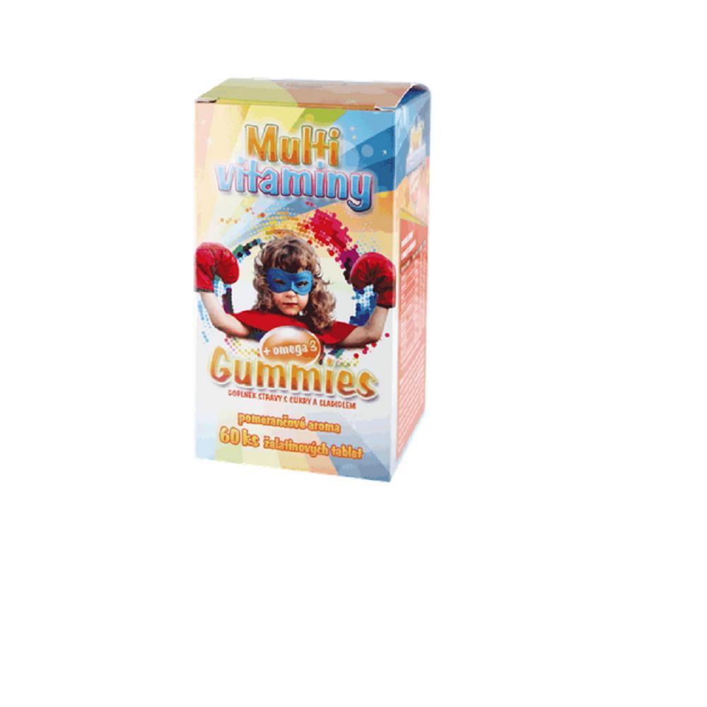 MEDPHARMA Gummies Multivitaminy+Omega3 60 kusů