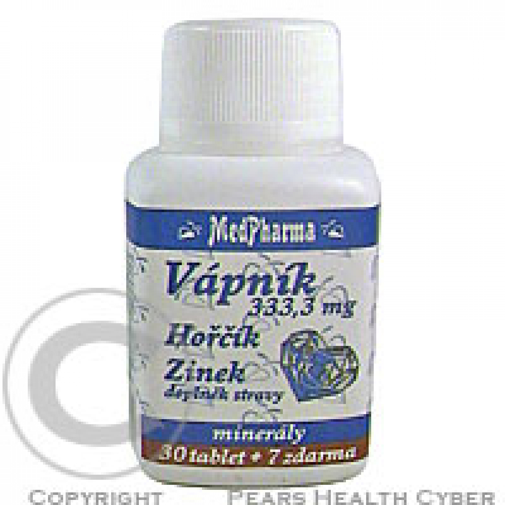 MedPharma Vápník+hořčík+zinek tbl.37