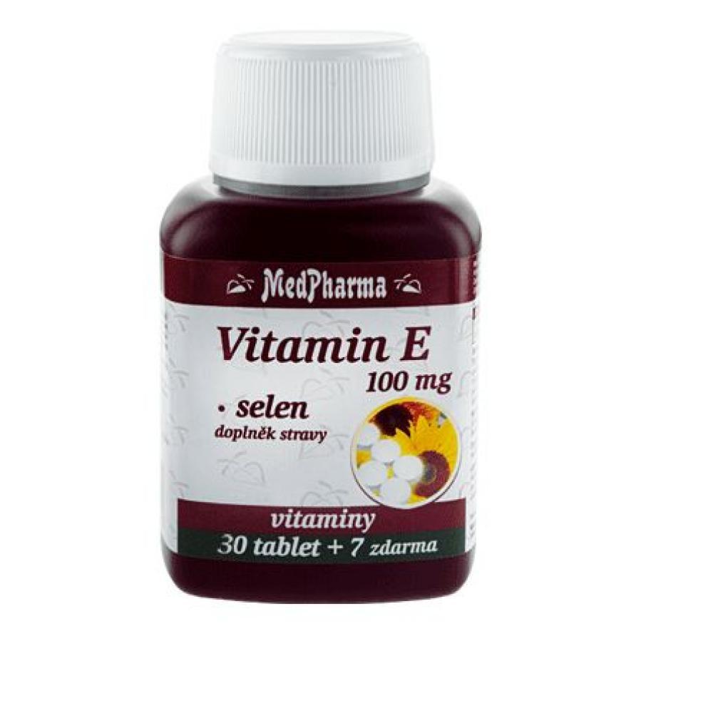 MedPharma Vitamín E 100 mg + selen tbl.37