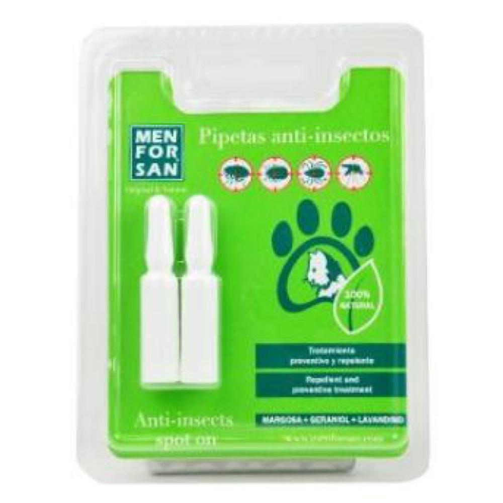 MENFORSAN Antiparazitní pipety proti blechám a klíšťatům pro psy 2x1,5 ml