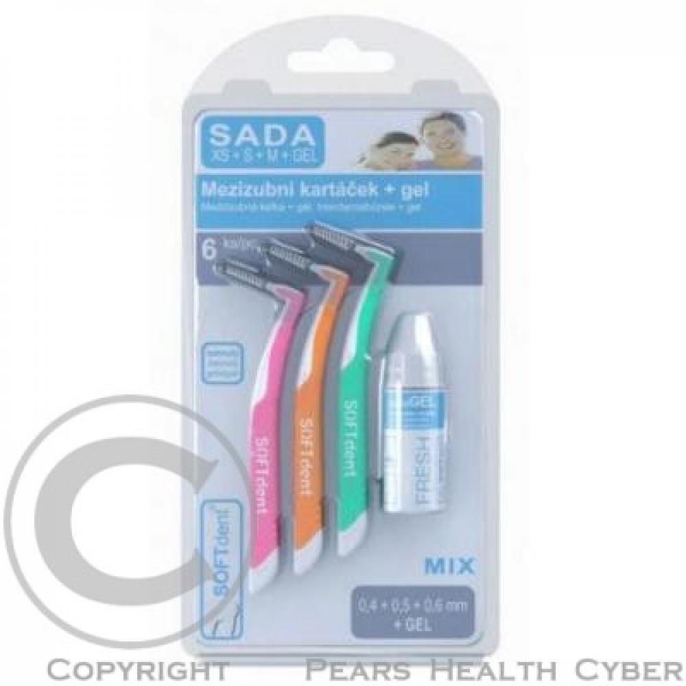 Mezizubní kartáčky MIX 6ks + gel SOFTdent