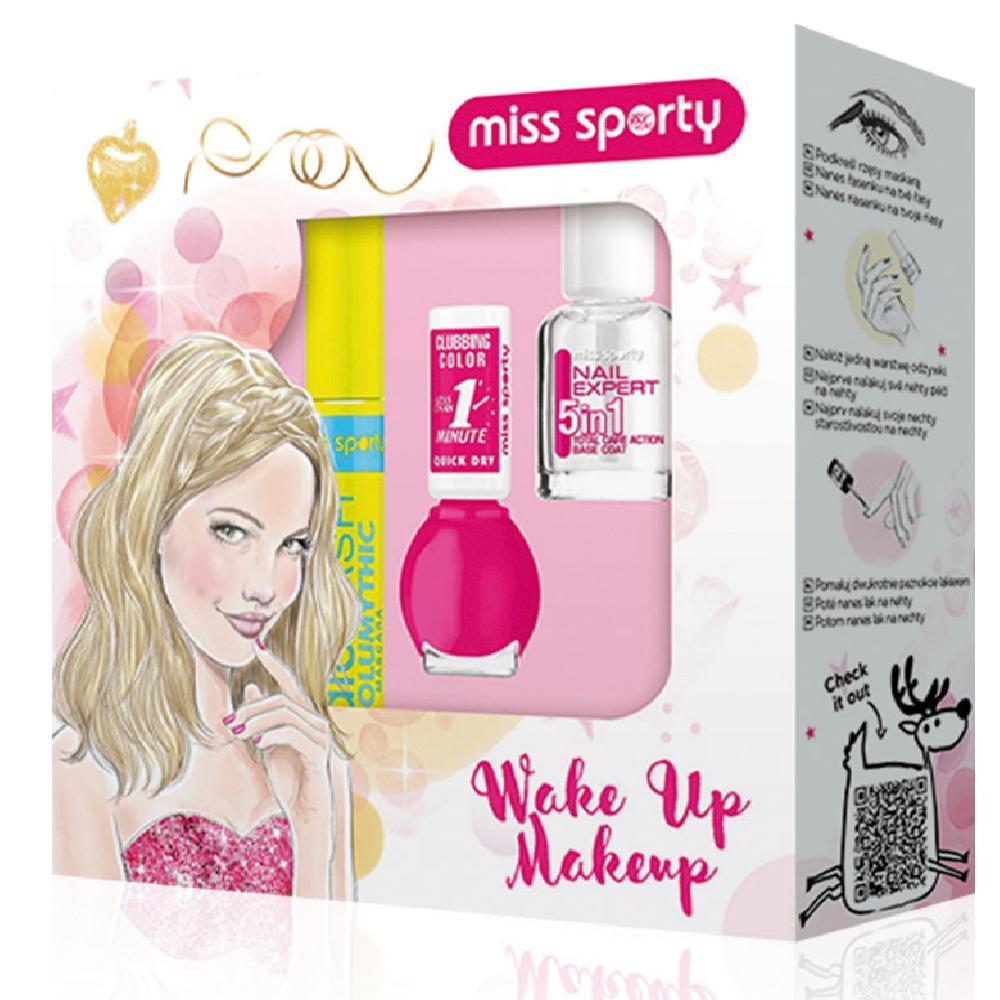 MISS SPORTY Wake Up Make up vánoční kazeta