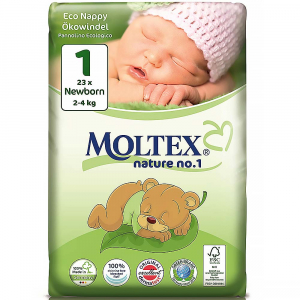 MOLTEX Nature No.1 Newborn 2-4kg  23 ks