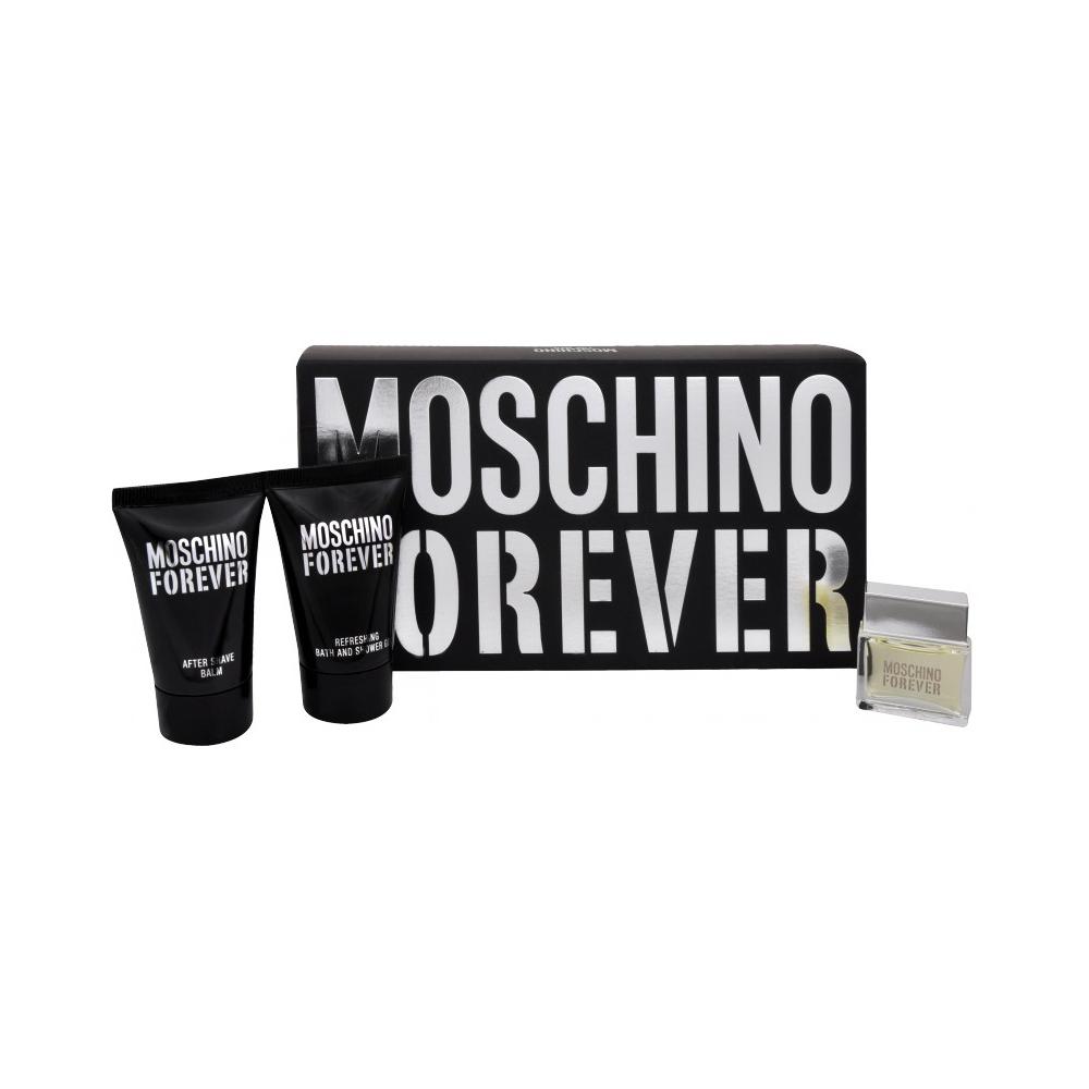 Moschino Forever Toaletní voda 4,5ml Edt 4,5ml + 25ml sprchový gel + 25ml balzám po holení