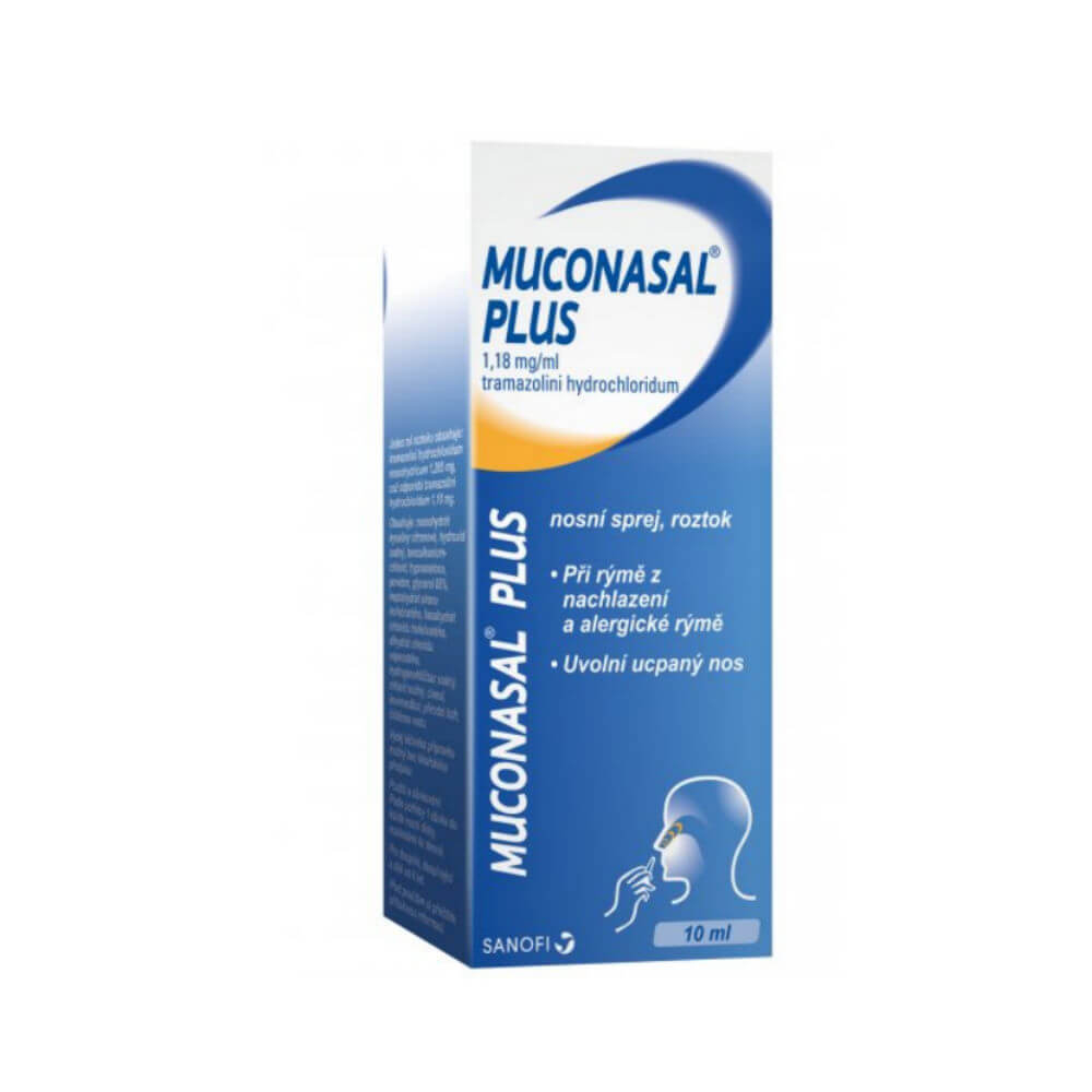 MUCONASAL PLUS roztok ve spreji 10 ml