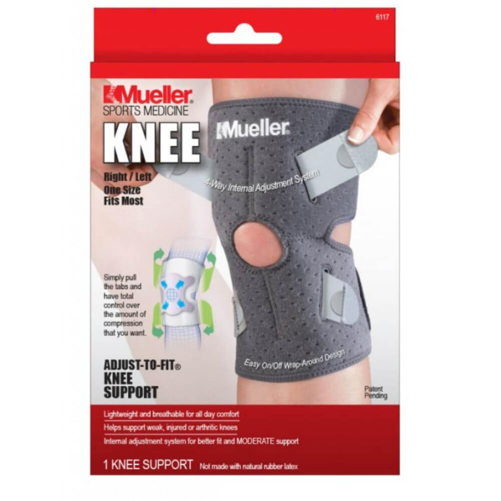 MUELLER Adjust-to-fit knee strabilizer Ortéza na koleno 1 kus