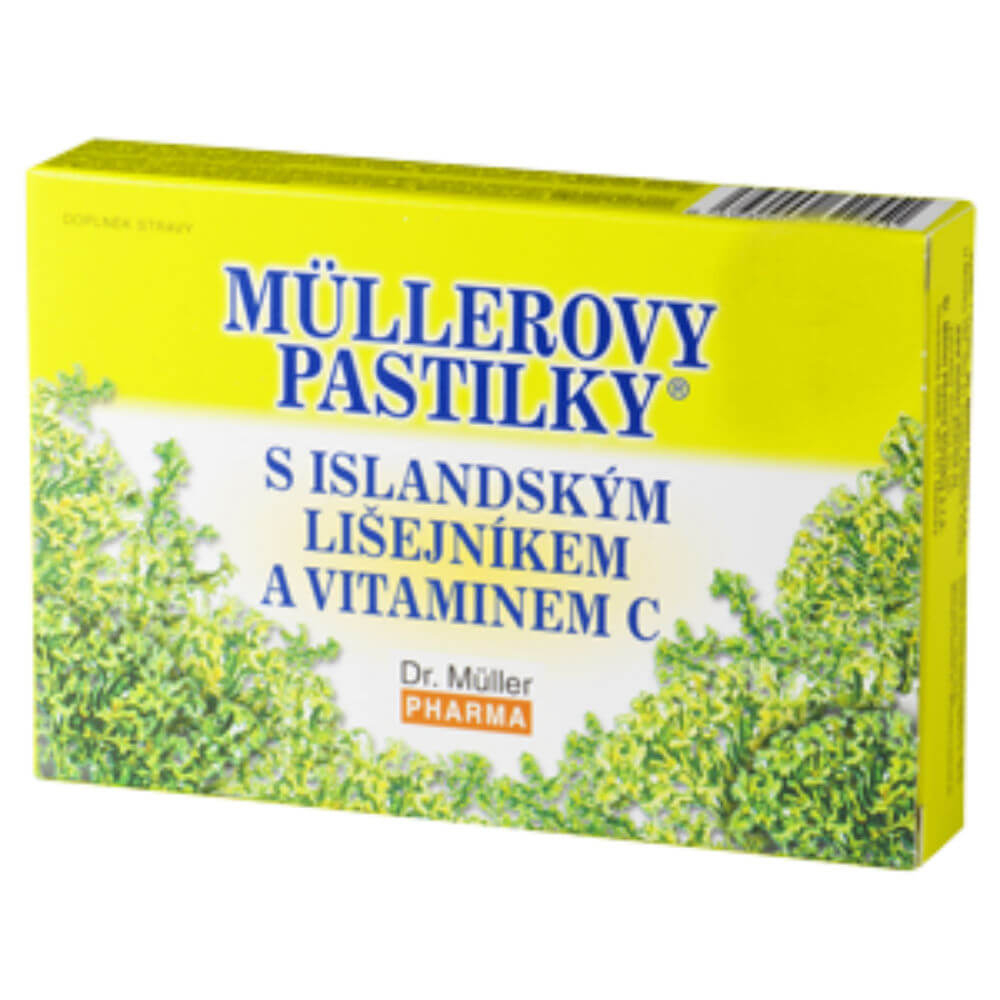 MÜLLEROVY PASTILKY s islandským lišejníkem bez cukru 36 ks