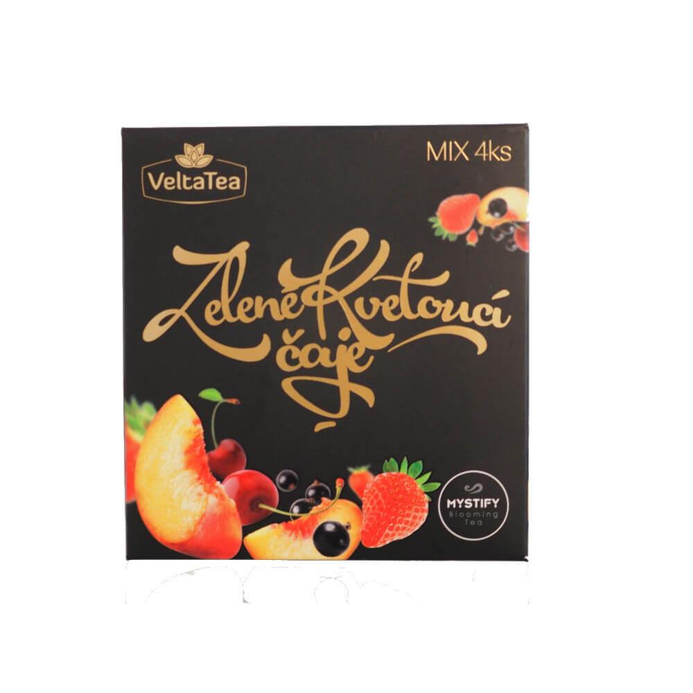 VELTATEA Mystify Bílý kvetoucí čaj s ovocnou příchutí Multibalení 4 ks mix