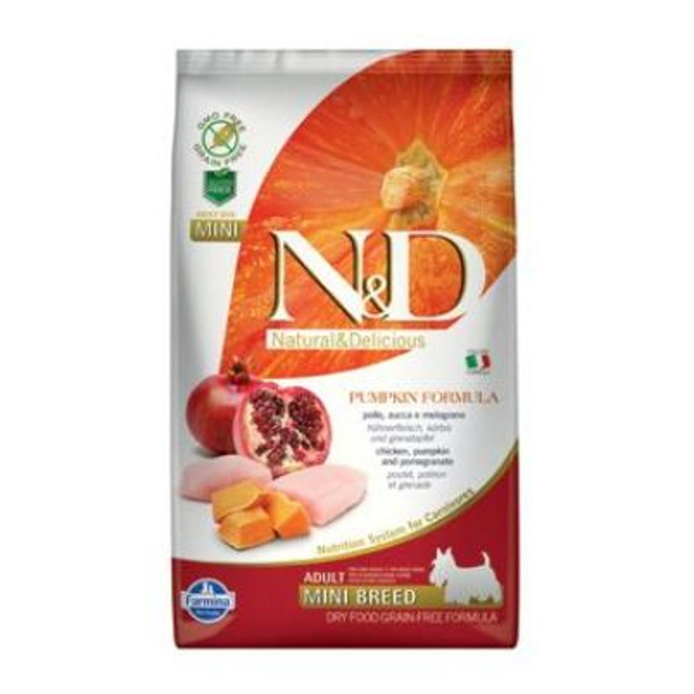 N&D GF Pumpkin DOG Adult Mini Chicken&Pomegranat 2,5 kg