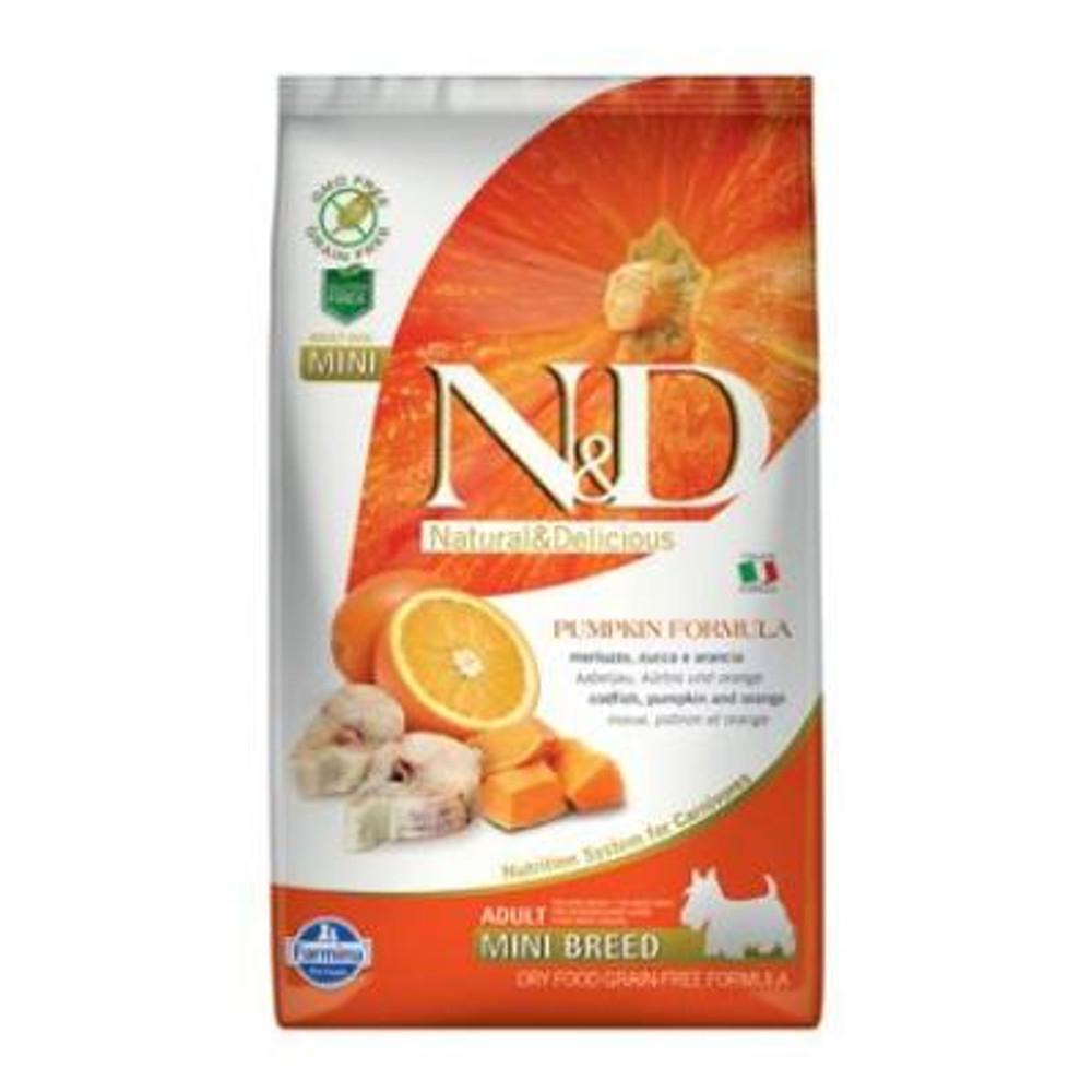 N&D GF Pumpkin DOG Adult Mini Codfish & Orange 2,5 kg