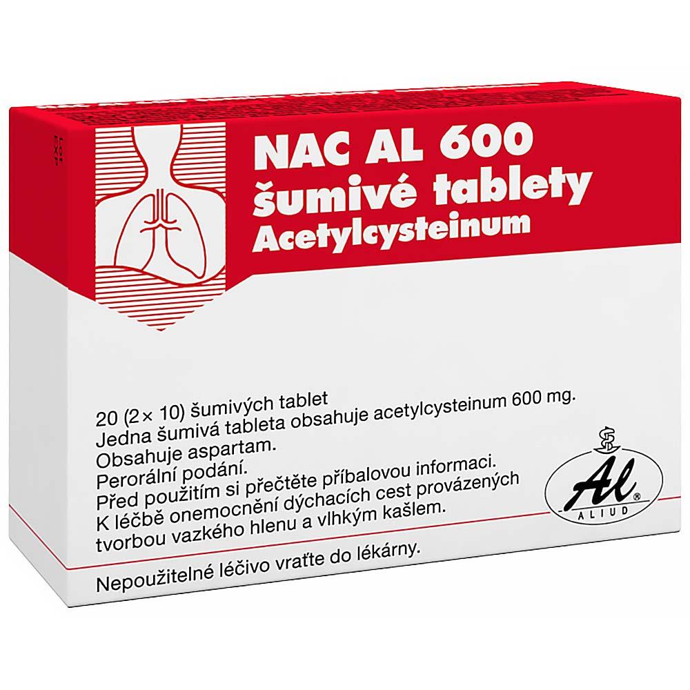 NAC AL 600 ŠUMIVÉ TABLETY 20X600MG Šumivé tablety
