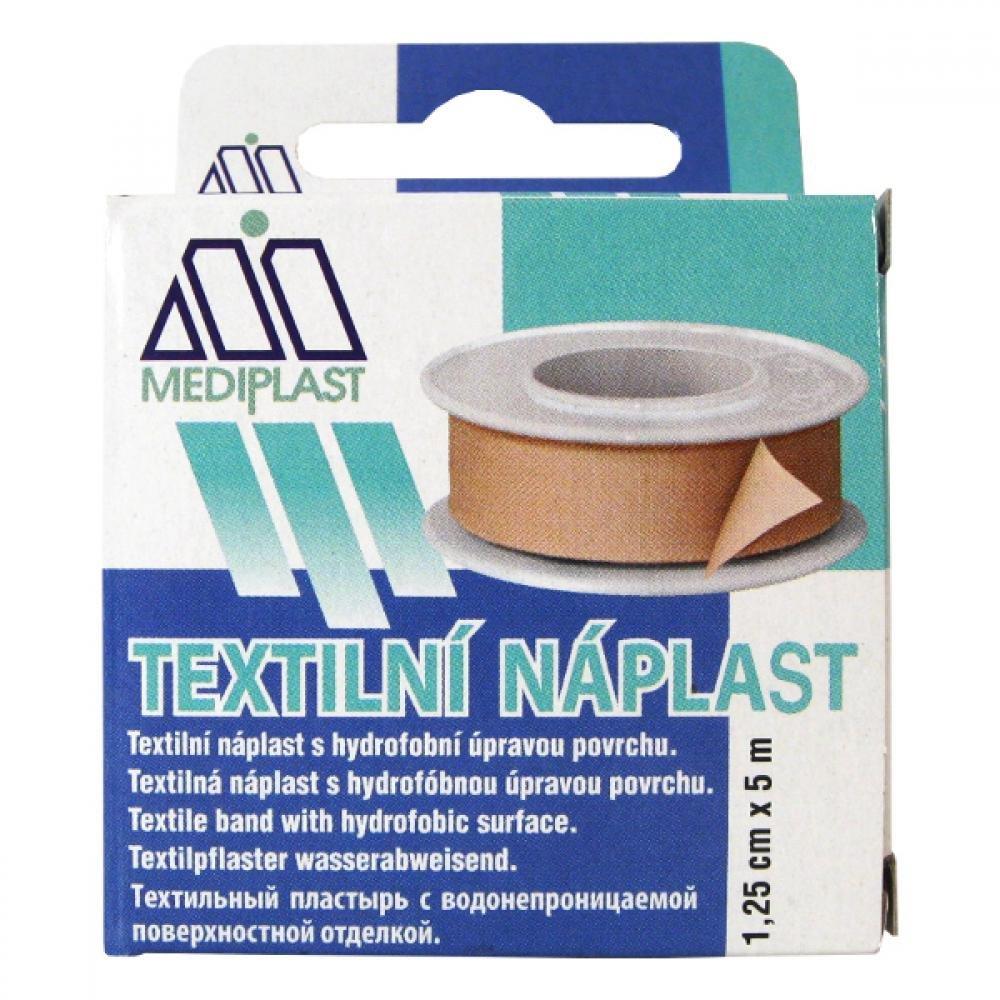 Náplast Mediplast 1.25 cmx5 m tkaná cívková