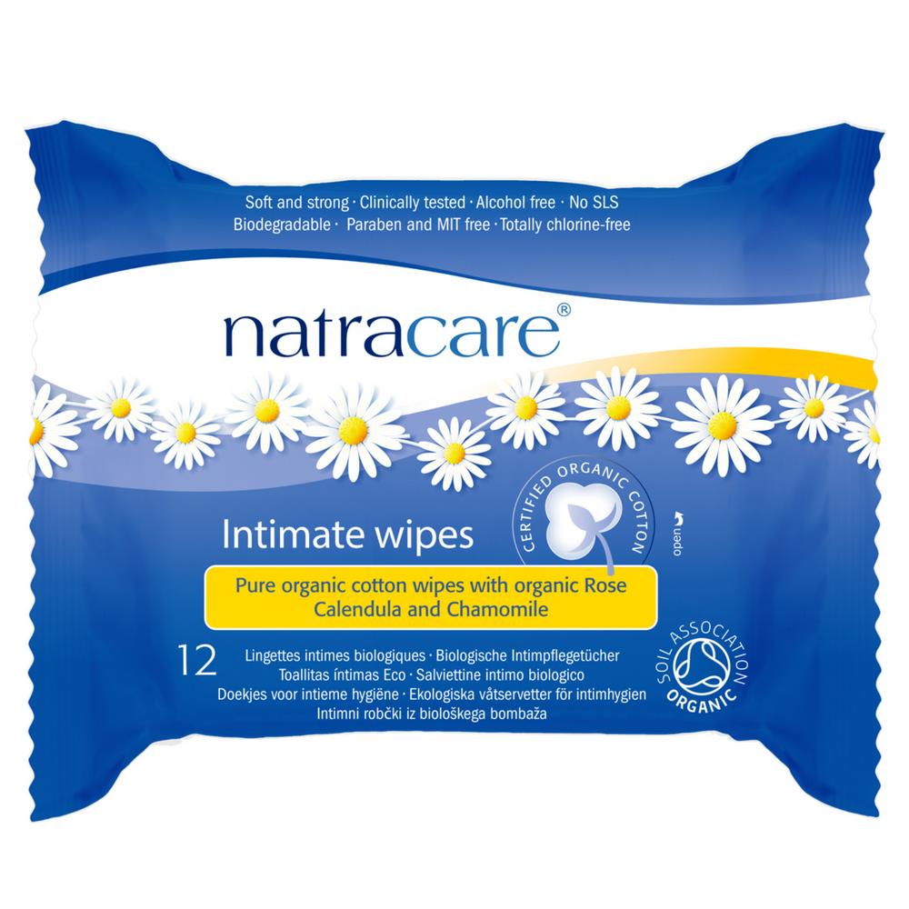 NATRACARE Vlhčené ubrousky pro intimní hygienu 12 ks