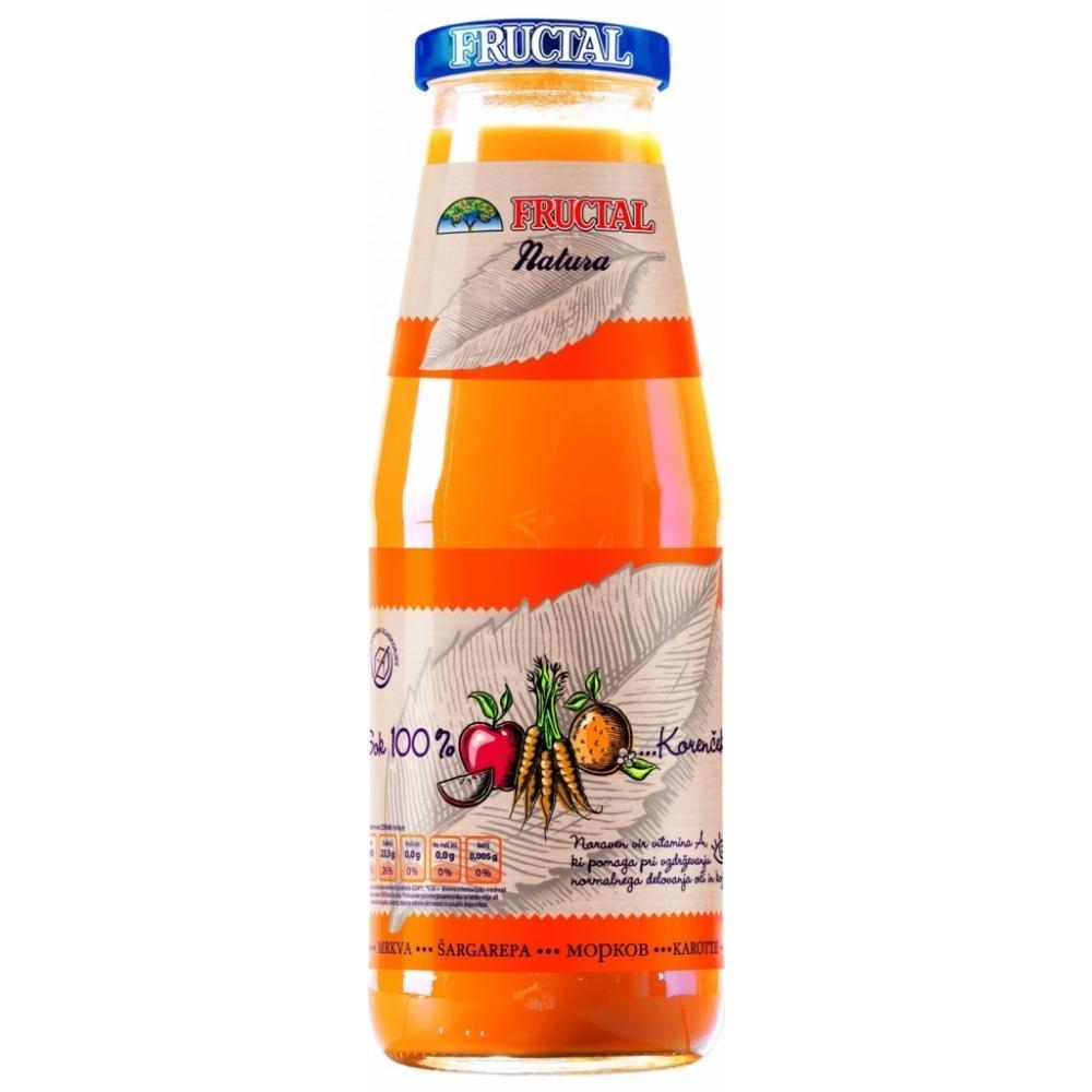 NATURA 100% šťáva z mrkve, pomerančů a jablek 700 ml