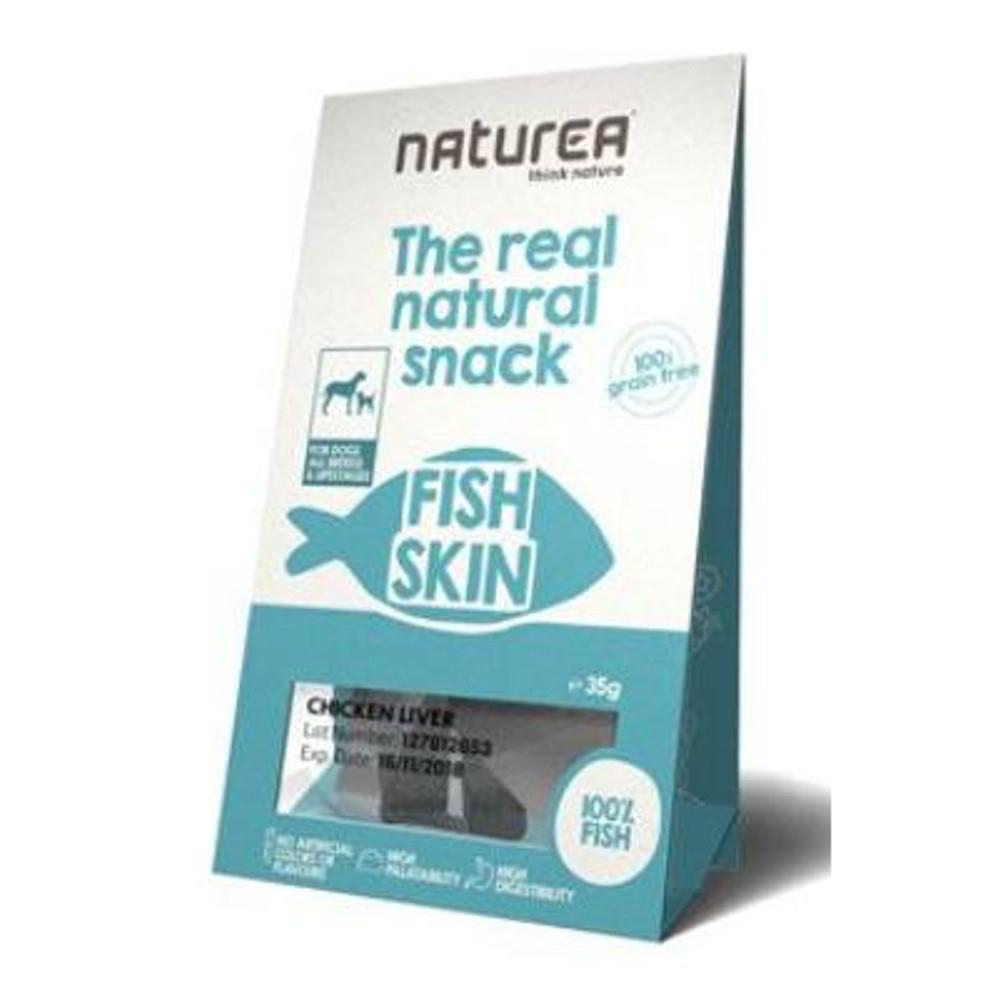 NATUREA pamlsky Natural snack pes rybí kůže 35 g