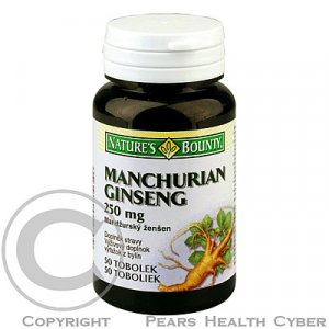 NATURE´S BOUNTY Manchurian Ginseng 250mg 50 tablet