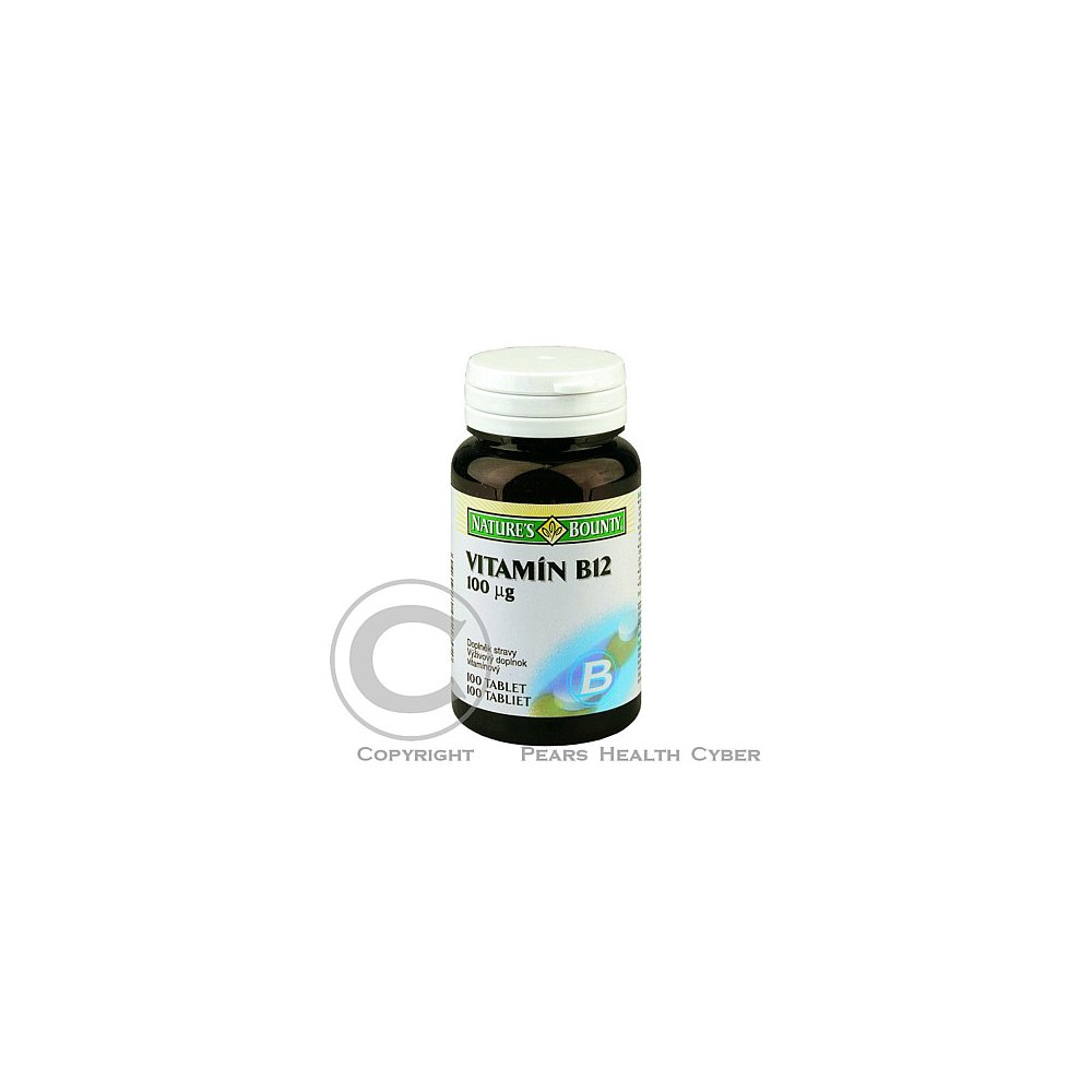 Nature's Bounty Vitamin B12 tbl. 100 x 100mcg