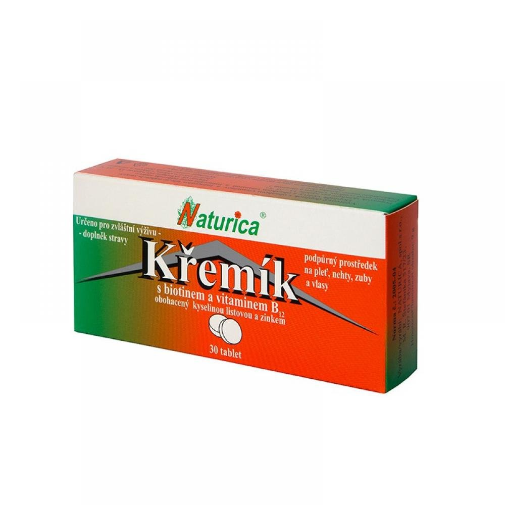 NATURICA Křemík s biotinem + vitamin B 12 30 tablet