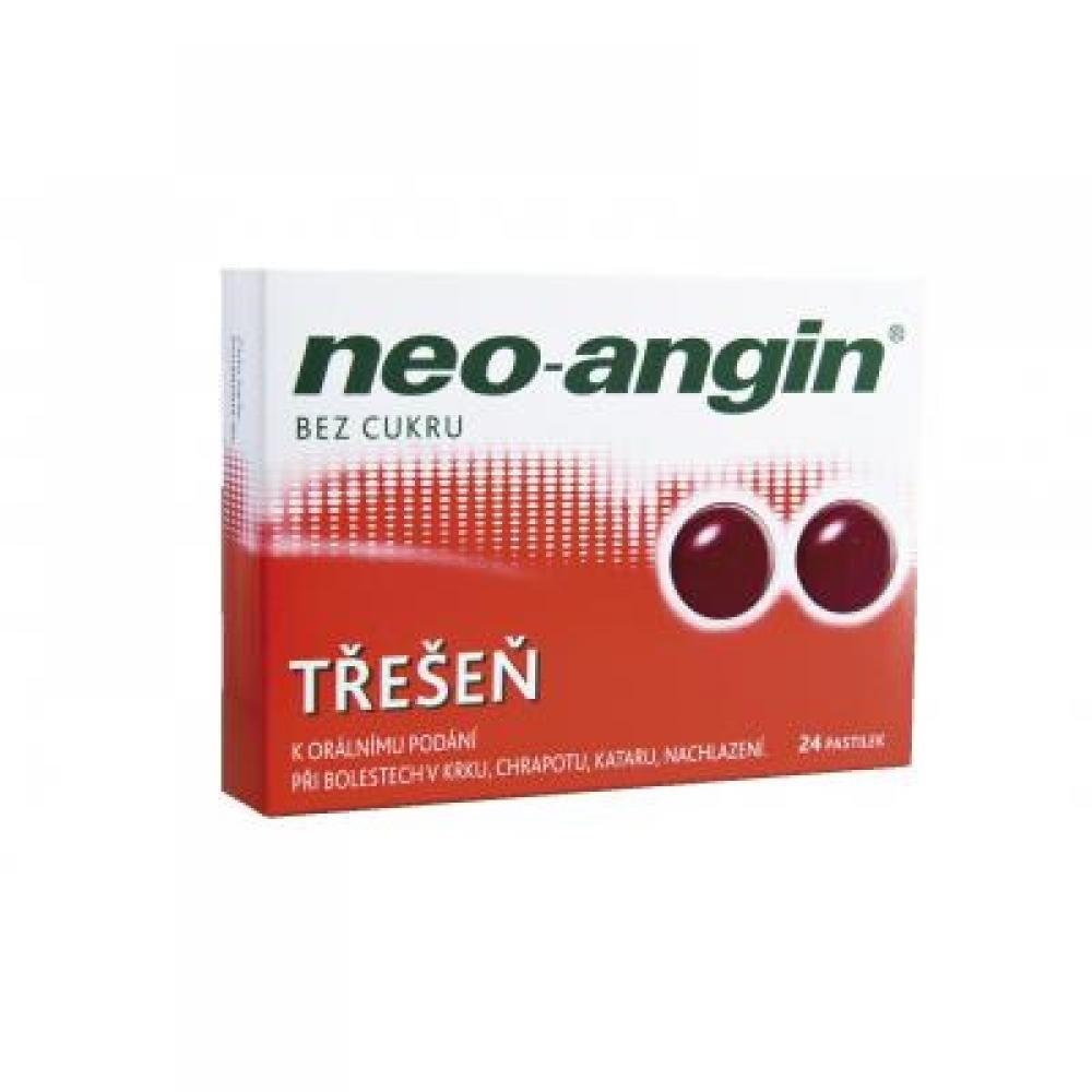NEO-ANGIN BEZ CUKRU TŘEŠEŇ 24 Pastilky rozp. v ústech