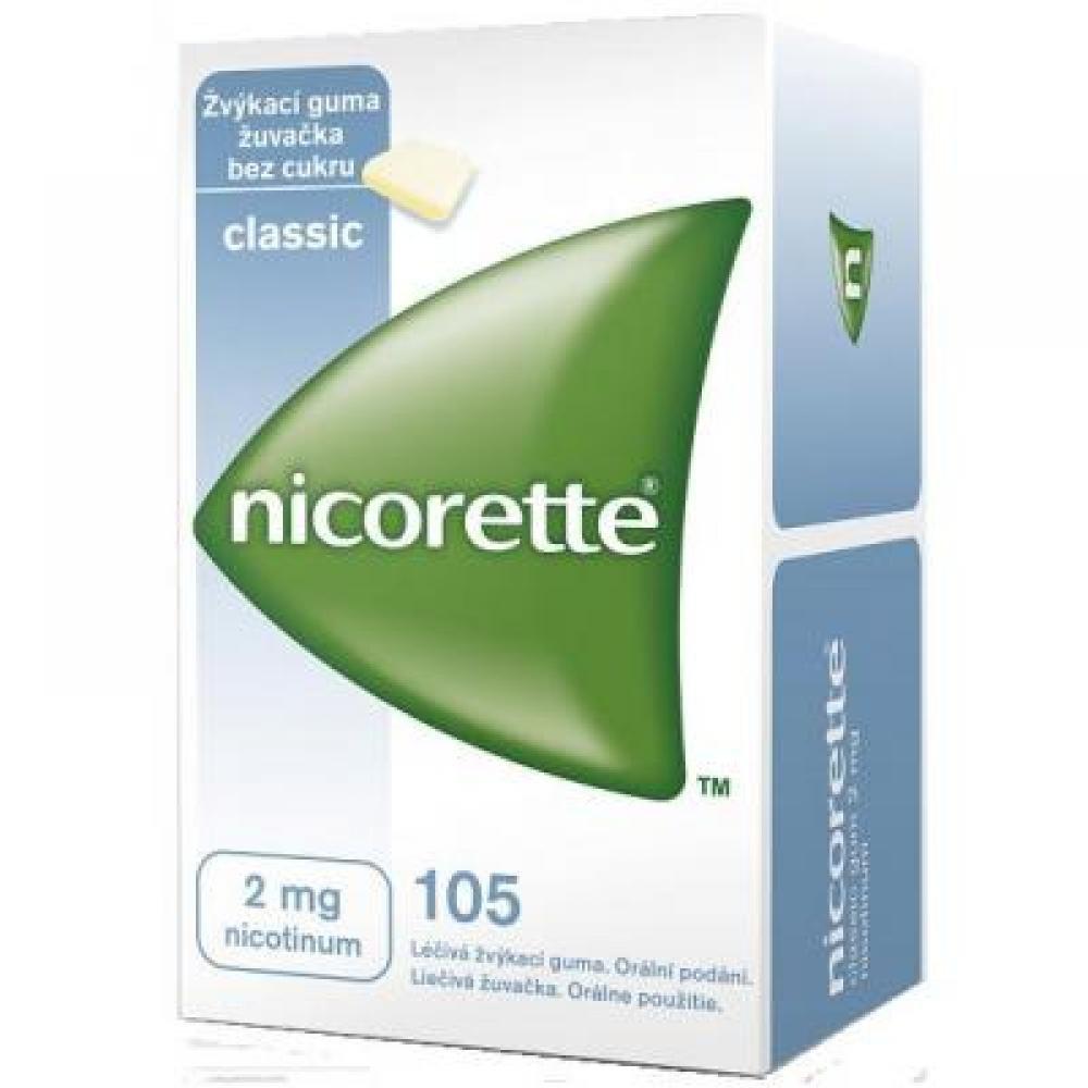 NICORETTE CLASSIC GUM 105X2MG Žvýkačky