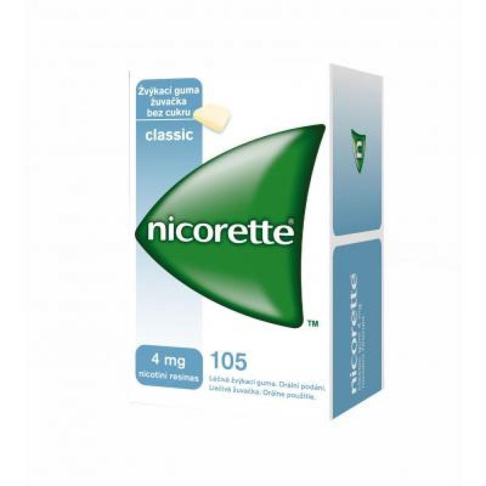 NICORETTE CLASSIC GUM 105X4 MG Žvýkačky