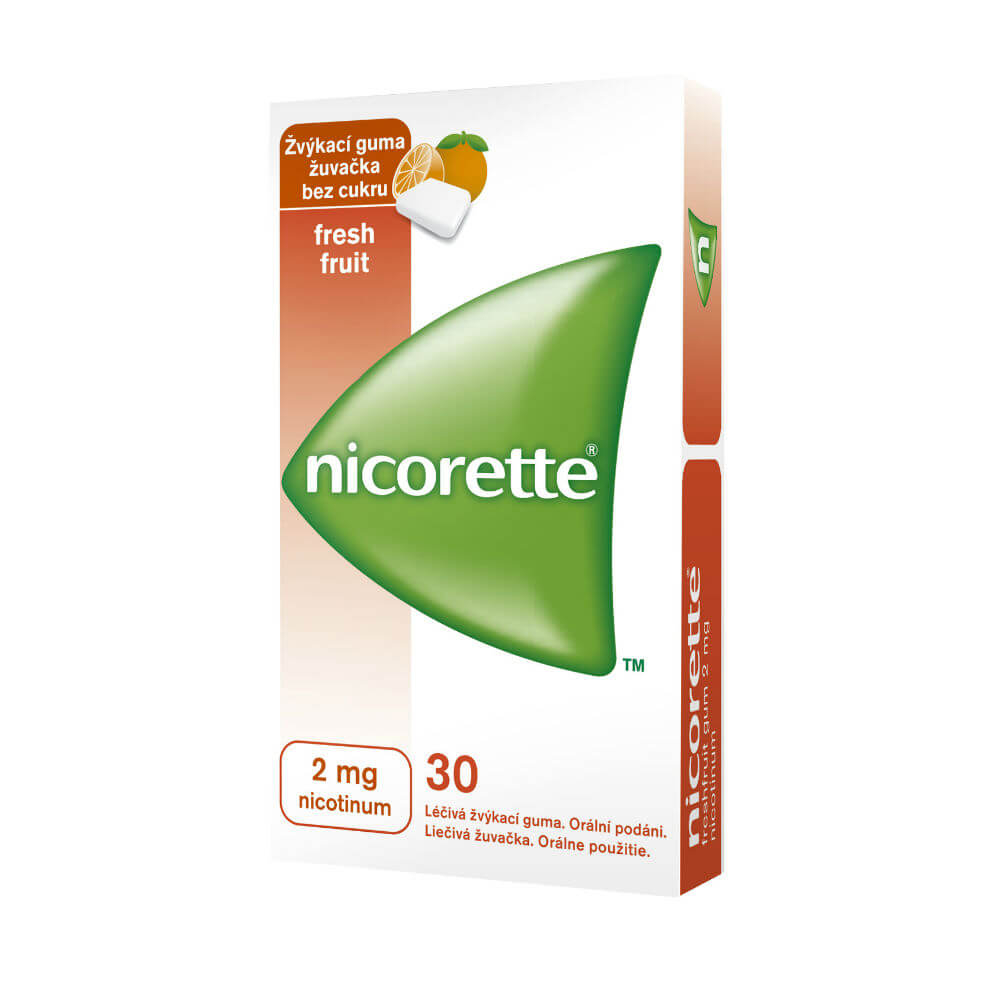 NICORETTE FRESHFRUIT GUM 30X2 MG Žvýkačky