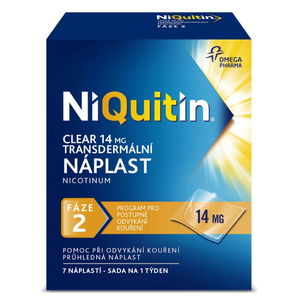 NIQUITIN Clear 14 mg 7 náplastí