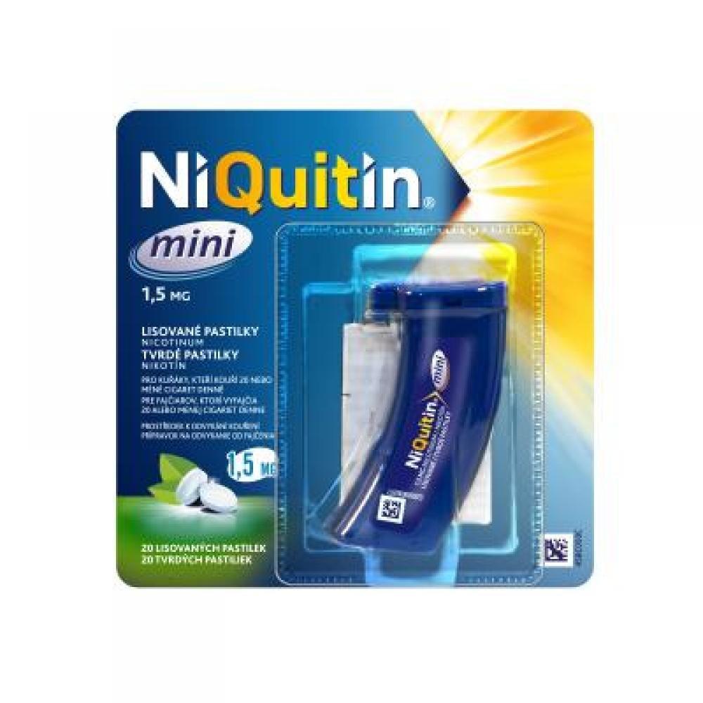 NIQUITIN Mini Pastilky rozpustné v ústech 1,5 mg x 20 kusů