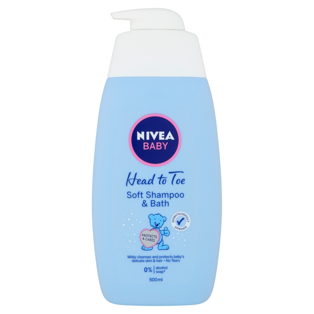 NIVEA Baby šampon a pěna do koupele 2v1 500ml