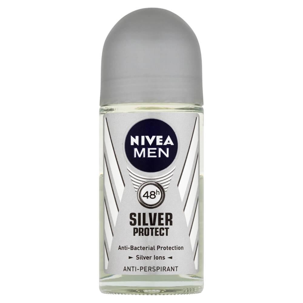 NIVEA Men Silver Protect Kuličkový antiperspirant pro muže 50 ml
