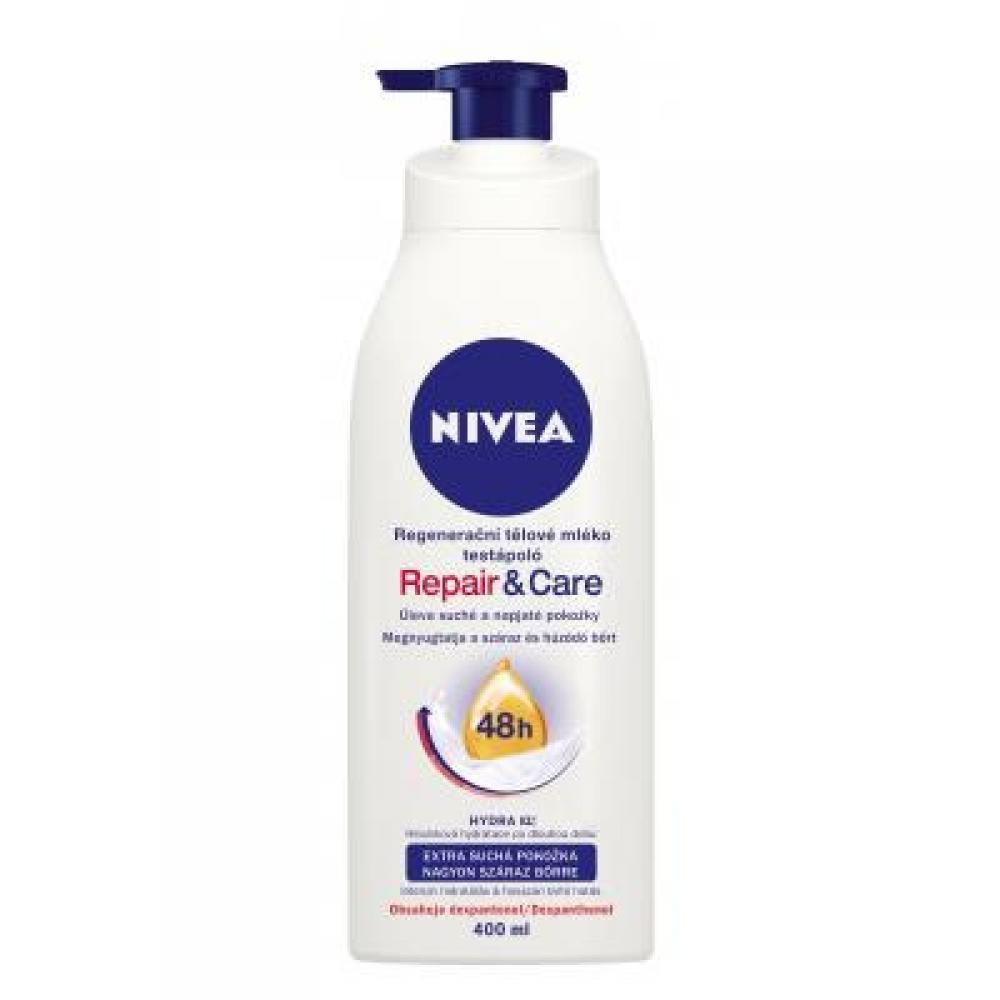 NIVEA Tělové mléko 400ML Repair and Care PUMPA