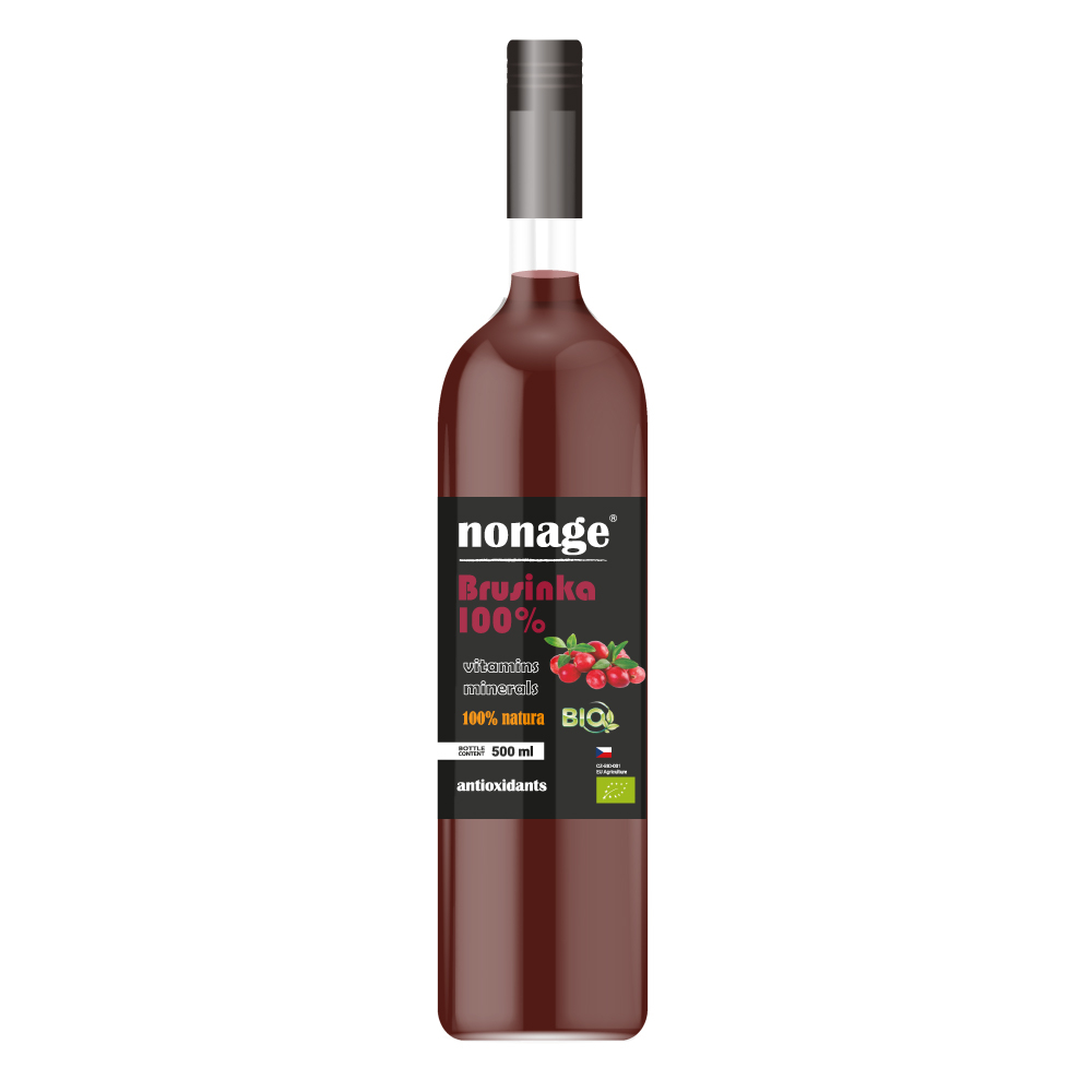 NONAGE Brusinka 100% Juice BIO PREMIUM 500 ml