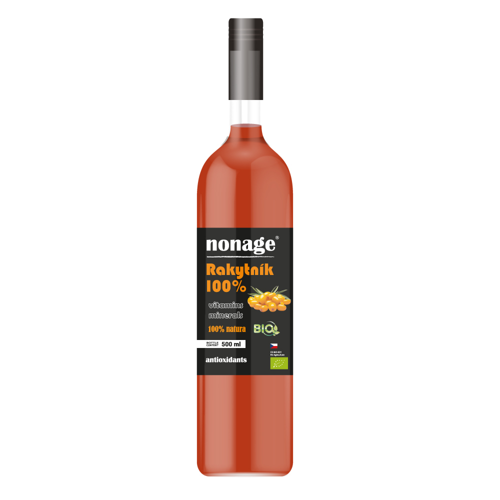 NONAGE Rakytník 100% Juice BIO PREMIUM 500 ml
