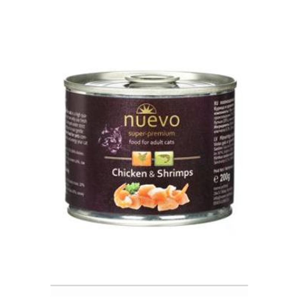 NUEVO kočka adult Kuře a krevety konz. 200 g